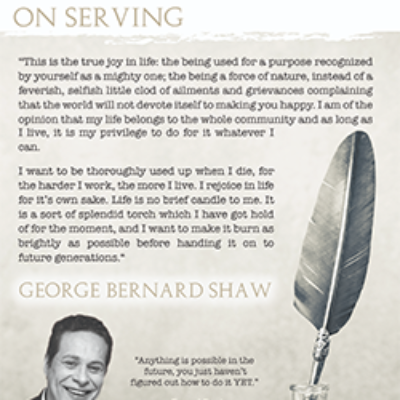 """On Serving"" – George Bernard Shaw"