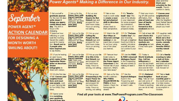 September Action Plan