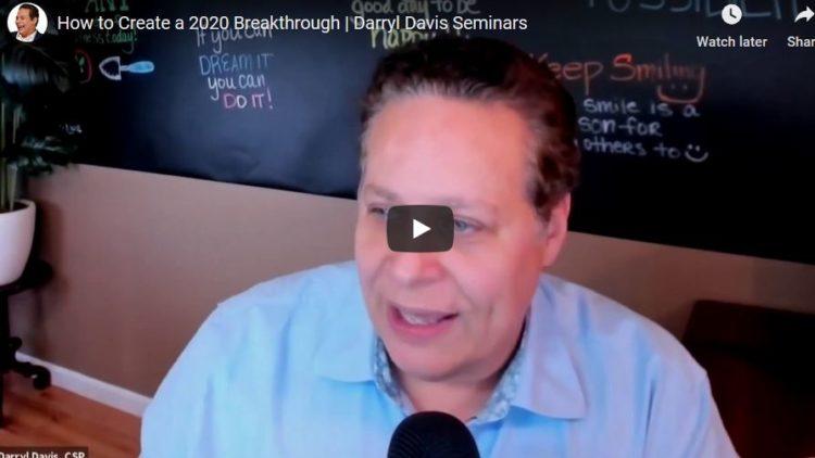 How to Create 2020 Breakthrough