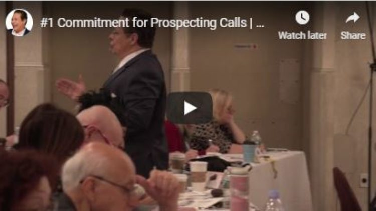 #1 Prospecting Call Commitment