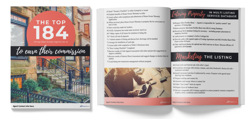 184 Things Real Estate Agents Do to Earn their Commission [eGuide]