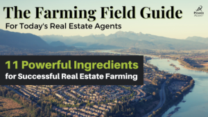the front cover of The Farming Field Guide for Todays Real Estate Agents