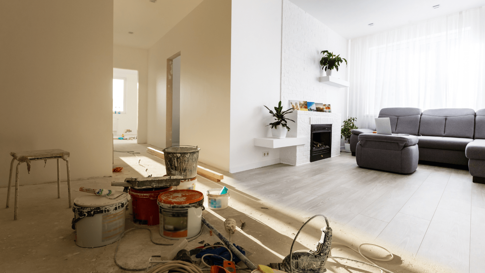 inside of a house going through a renovation